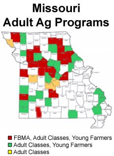 Adult Ag Programs map